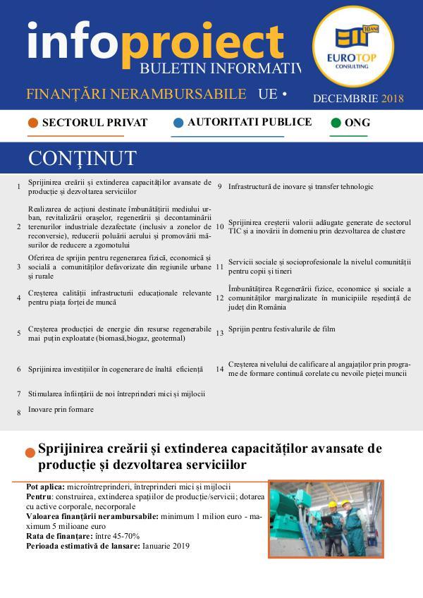 Newsletter 2018 Decembrie NEWSLETTER-ETC-Decembrie-2018