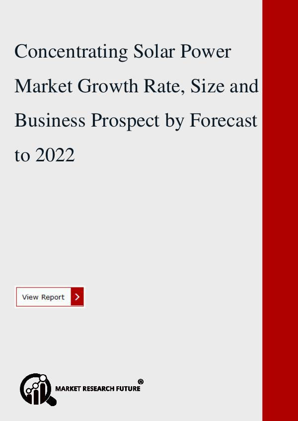 Concentrating Solar Power Market Growth Rate, Size
