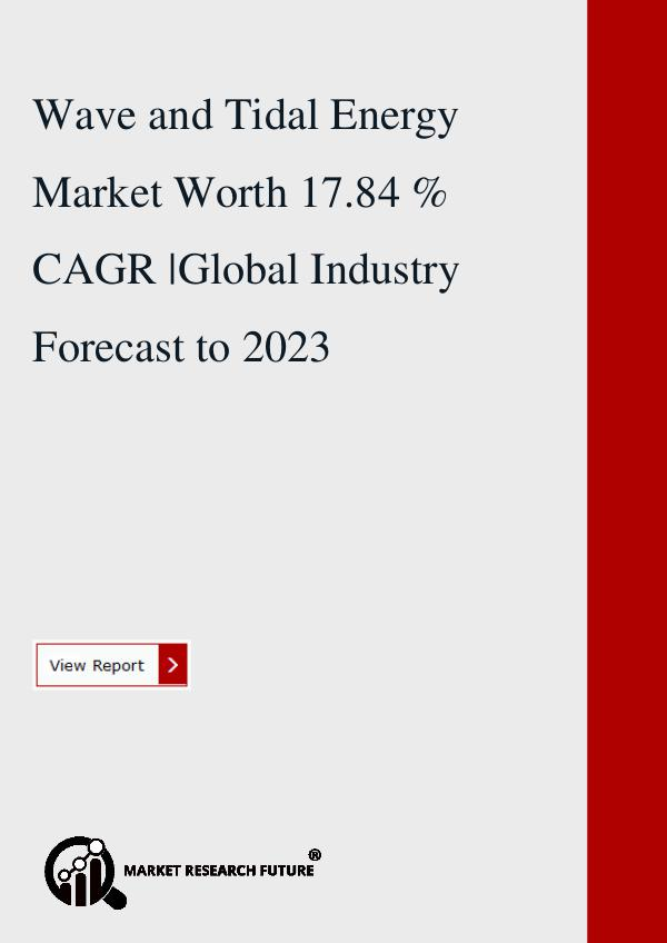 Wave and Tidal Energy Market Worth 17.84 % CAGR.