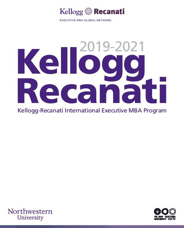 Kellogg Recanati 2018-2020 Kellogg Recanati 2019-2021_press_web