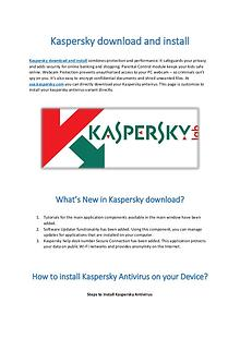 kaspersky download and install