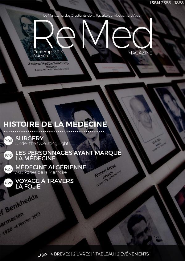 ReMed 2018 Remed 5 - Histoire de la Médecine