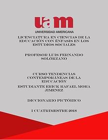 DICCIONARIO PICTORICO TENDENCIAS CONTEMPORANEAS DE LA EDUCACION