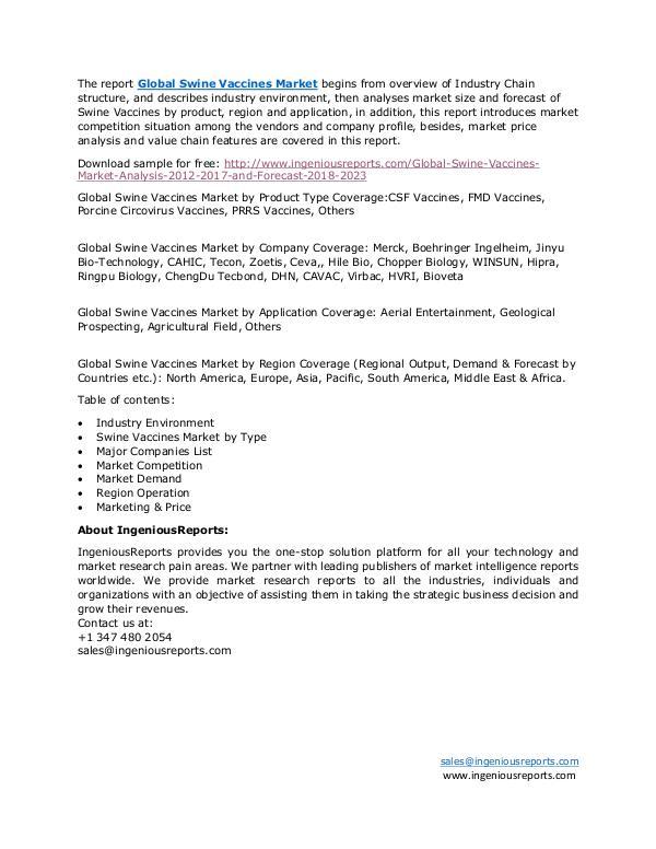 Global Swine Vaccines Market