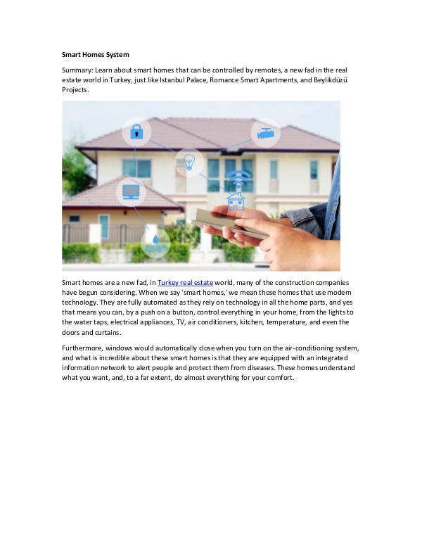 Smart Homes System