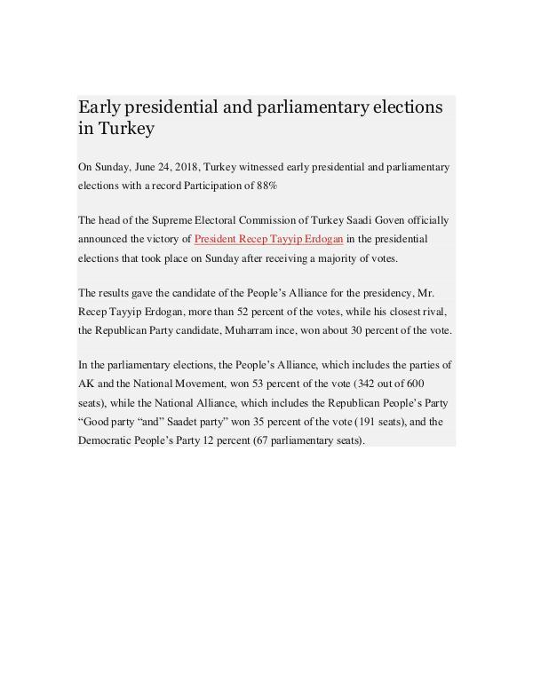 Turkish Elections President Erdogan Inaugurates th