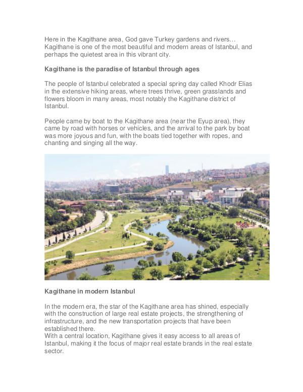 Kagithane in Istanbul The New Turkish Real Estate