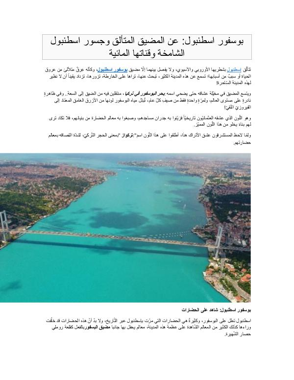 Real Estate in Turkey بوسفور اسطنبول عن المضيق المتألق وجسور اسطنبول الش
