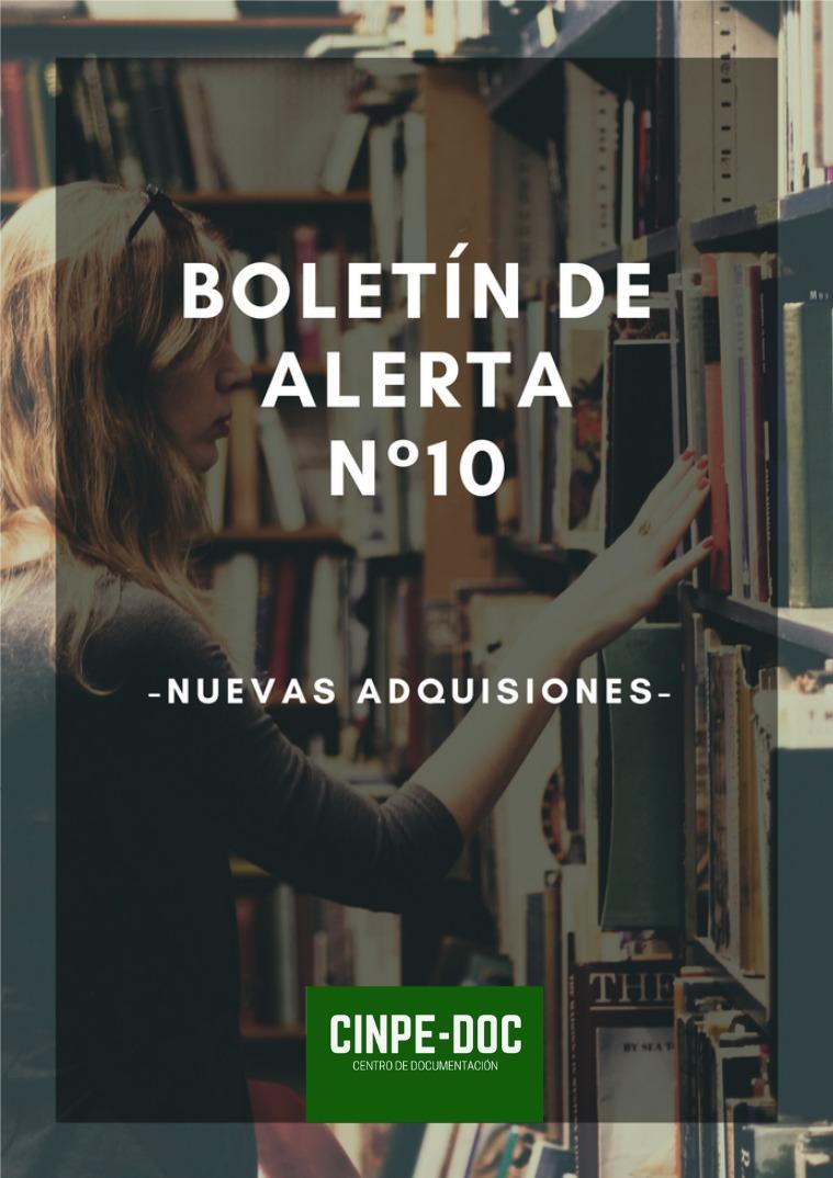 Boletín de alerta CINPE-DOC Boletín de alerta CINPE-DOC no. 10- 2020
