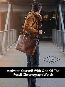 Activate Yourself with One of the Fossil Chronograph Watch