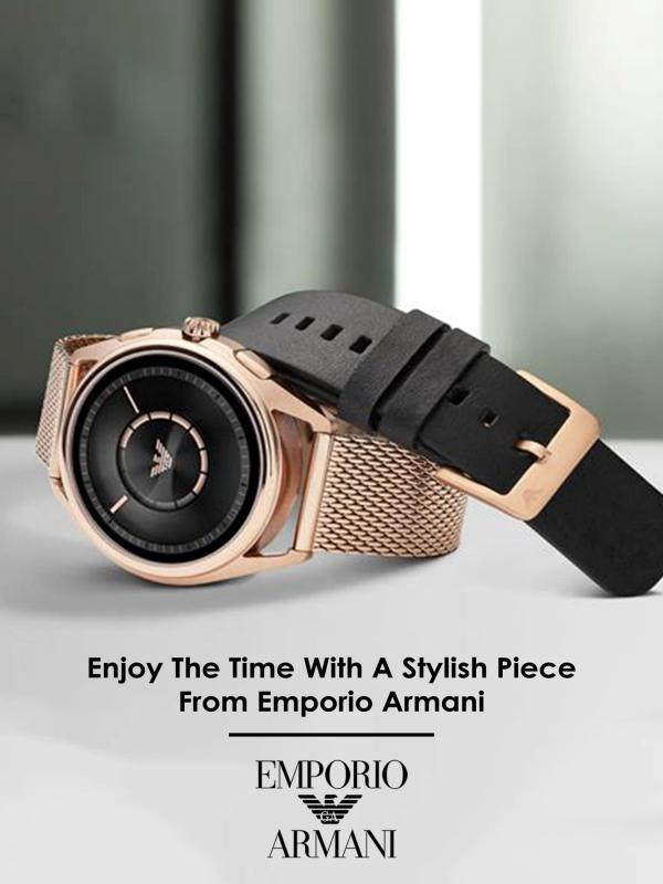 Enjoy The Time With A Stylish Piece From Emporio Armani Enjoy The Time With A Stylish Piece From Emporio A