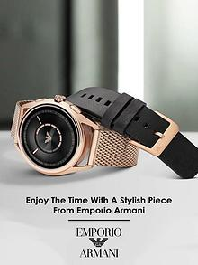 Enjoy The Time With A Stylish Piece From Emporio Armani