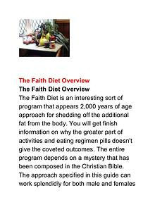 Father Christopher White:The Faith Diet PDF Book Free Download