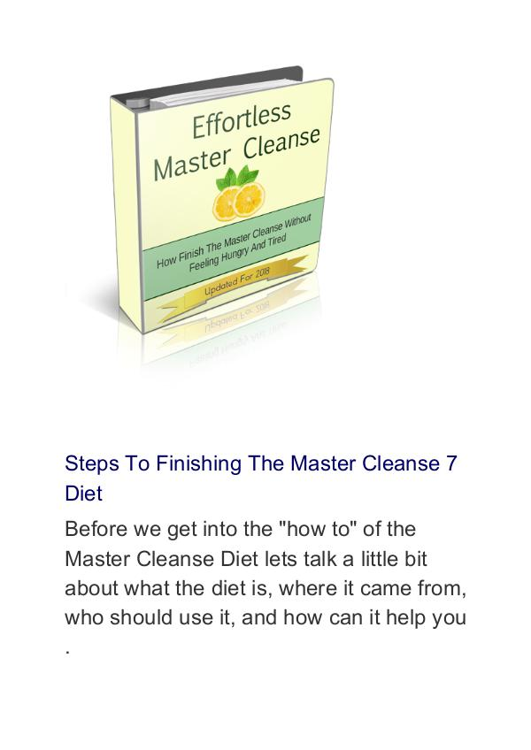 Raylin:Effortless Master Cleanse PDF Free Download Effortless Master Cleanse PDF Free Download