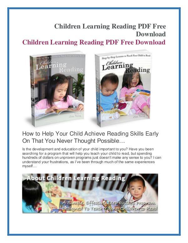 Jim Yang: Children Learning Reading PDF eBook Free Download Children Learning Reading PDF Free Download