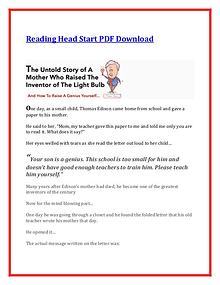 Sarah Shepard:Reading Head Start PDF Ebook Free Download