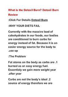 Detoxil Burn Coupon Code Buy Detoxil Burn Special Discount