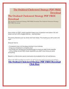 Scott Davis:The Oxidized Cholesterol Strategy PDF Free Download