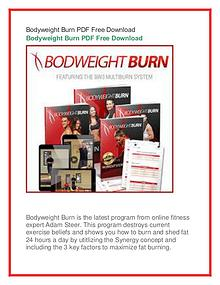Adam Steer :Bodyweight Burn PDF Book Free Download