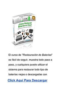 Como Restaurar Baterias En Casa PDF Libro DESCARGAR Gratis