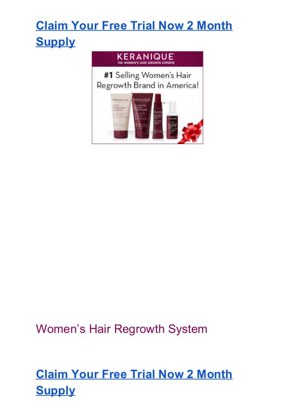 Keranique Free Trial Pack #1 Hair Regrowth System Free Trial Keranique Free Trial Pack Free Risk Free
