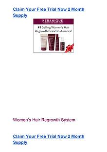 Keranique Free Trial Pack #1 Hair Regrowth System Free Trial