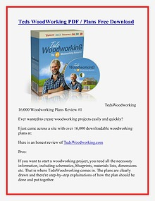 Teds WoodWorking PDF / Plans 16000 Woodworking Plans Free Download