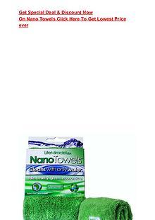 Nano Towels Coupon Code Buy Nano Towels by Water Liberty  GET $80 OFF