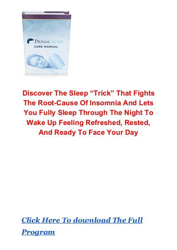 David Sinick: Primal Sleep System PDF eBook Free Download Primal Sleep System PDF Free Download