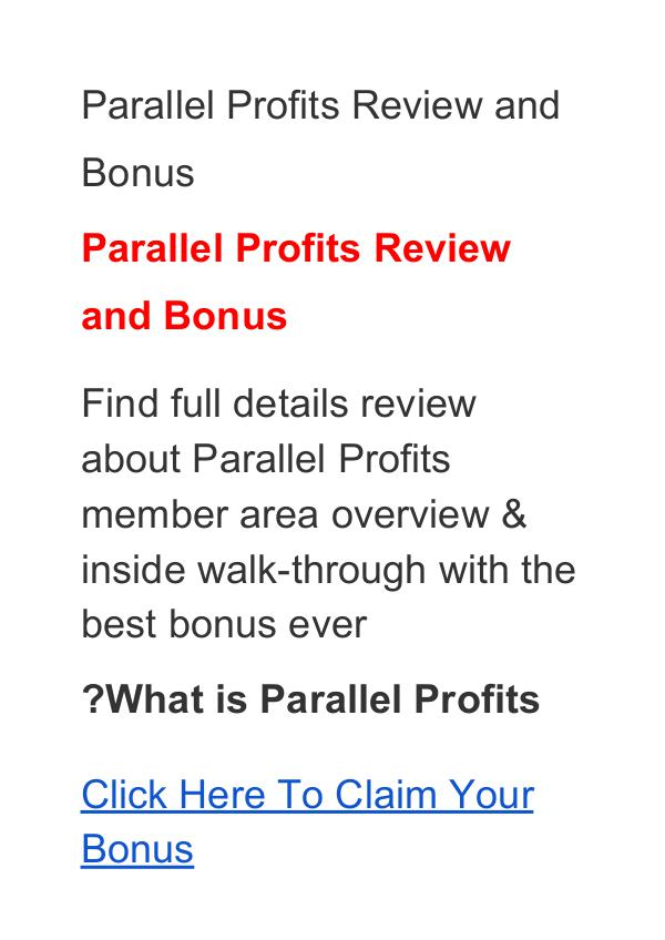 Aidan Booth & Steven Clayton:Parallel Profits Review, Price, Discount Parallel Profits Review and Bonus