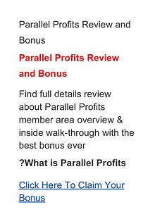 Aidan Booth & Steven Clayton:Parallel Profits Review, Price, Discount
