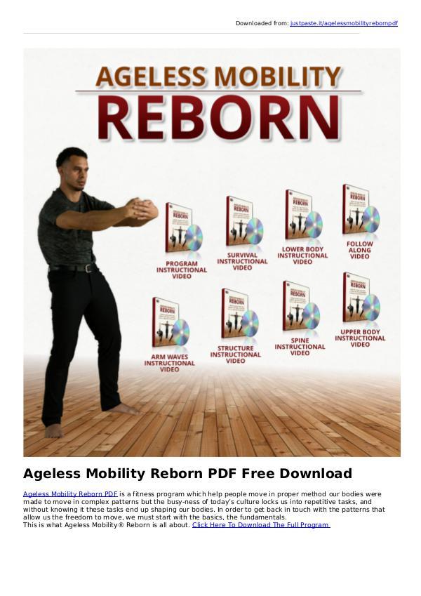 Gwint Fesher:Ageless Mobility Reborn PDF eBook Free Download Ageless Mobility Reborn PDF Free Download