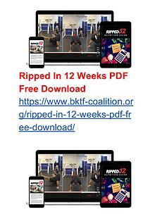 Ripped In 12 Weeks Tom DeBlass' eBook Program PDF Free Download