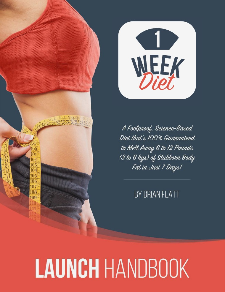 Brian Flatt: The 1 Week Diet PDF eBook Free Download Full Free Download 2019