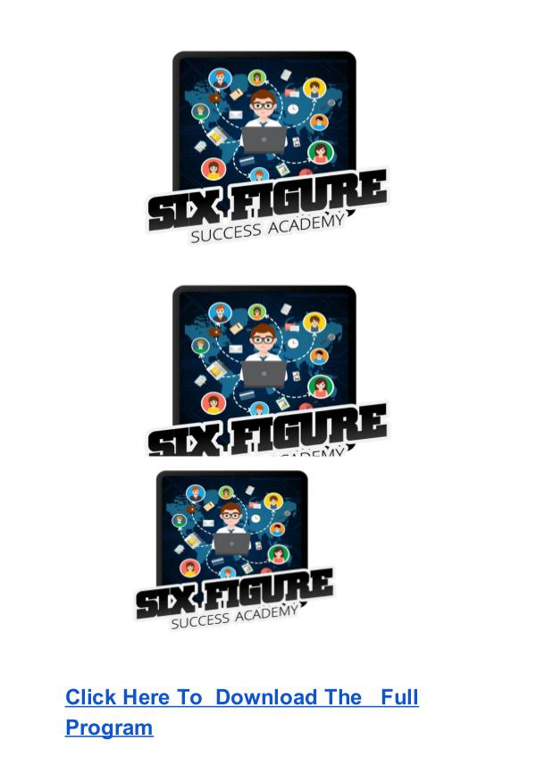 Six Figure Success Academy Program FREE DOWNLOAD Cohen & Mike Balmaceda System Free Download