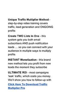 Traffic Multiplier PRO Software  Review Free Download