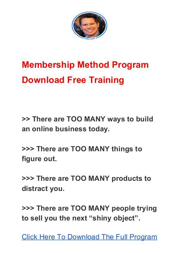 Chris Luck: Membership Method Program PDF Ebook Free Download Membership Method Program Free Download