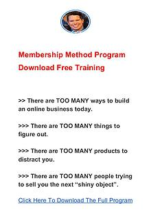 Chris Luck: Membership Method Program PDF Ebook Free Download
