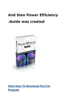 Mark Edwards:Power Efficiency Guide PDF eBook Free Download