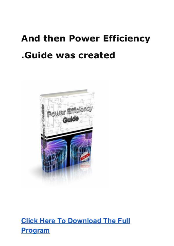 Mark Edwards:Power Efficiency Guide PDF eBook Free Download [PDF ] Power Efficiency Guide