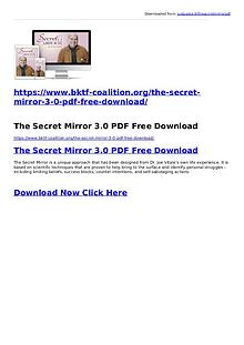Joe Vitale:The Secret Mirror 3.0 PDF Ebook Free Download