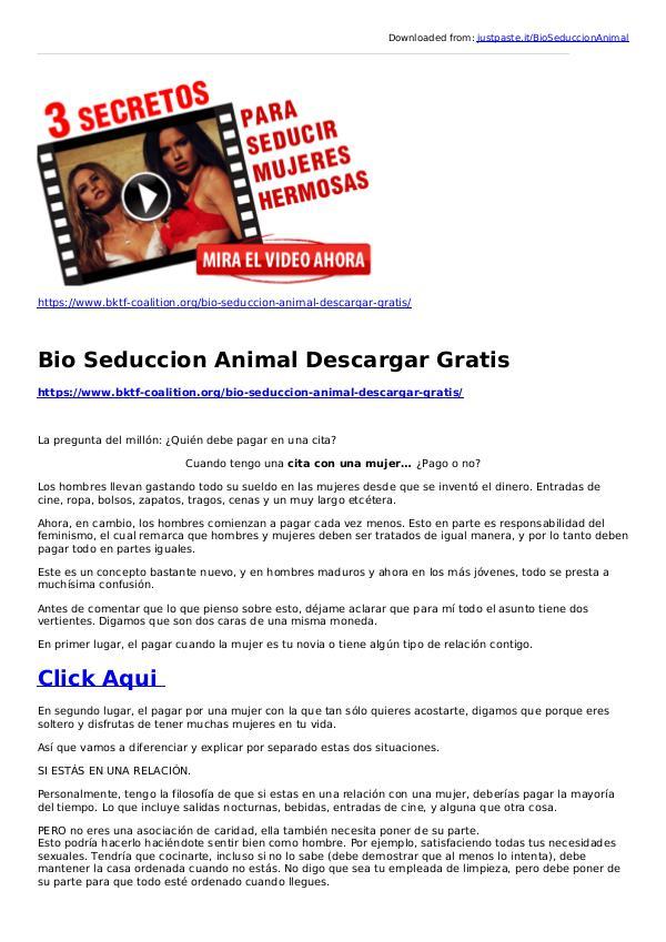 joey palmer:Bio Seduccion Animal Descargar Gratis BIO SEDUCCION ANIMAL ACADEMIA PARA CABALLEROS PDF