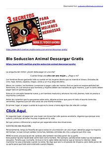 joey palmer:Bio Seduccion Animal Descargar Gratis