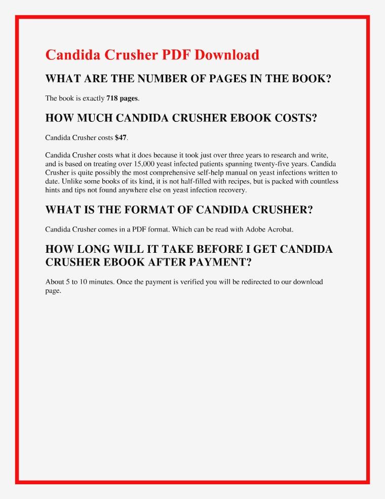 Candida Crusher PDF EBook Free Download | Eric Bak