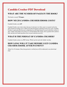 Eric Bak:Candida Crusher PDF EBook Free Download