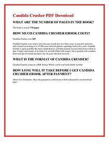 Eric Bak:Candida Crusher PDF EBook Free Download