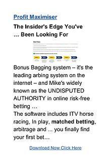 Mike Cruickshank: Profit Maximiser Matched Betting Free Download