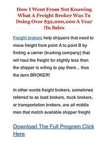 Freight Broker Profits Boot Camp PDF Ebook Free Download