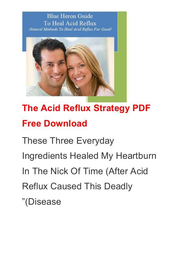 Scott Davis:The Acid Reflux Strategy PDF / Ebook Free Download The Acid Reflux Strategy PDF Free Download