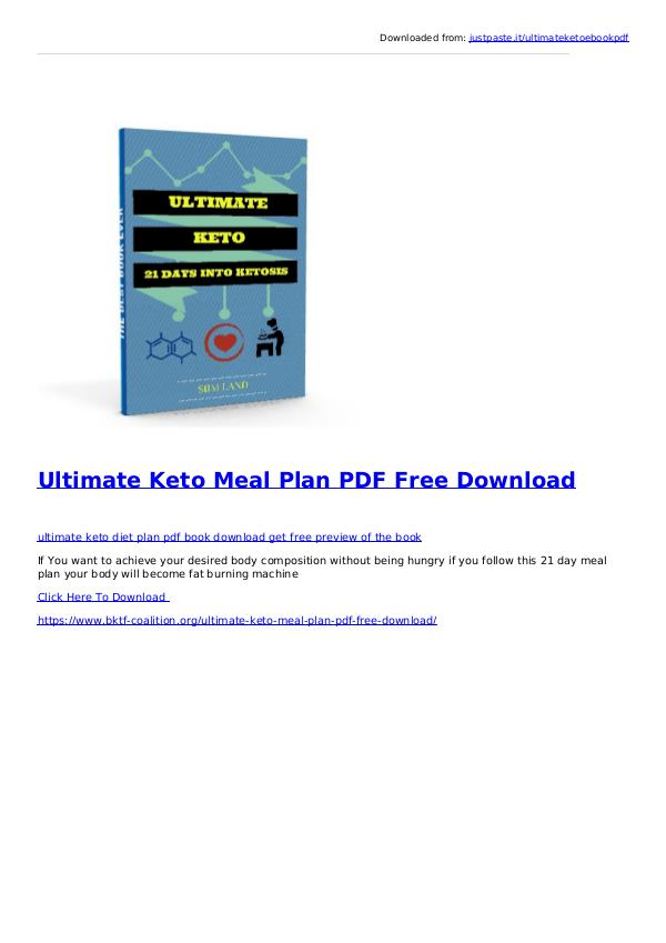 Keto Diet Plan Pdf News And Health